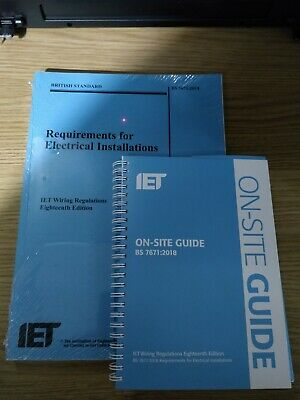 IET Wiring Regulations BS 7671 18th Edition & On Site Guide Brand New