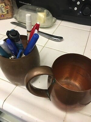 2 Vintage West Bend Aluminum Co Solid Copper  Moscow Mule Style Mug - 1 free