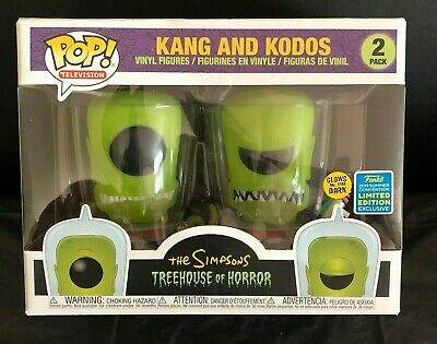 SDCC 2019 Shared Exclusive The Simpsons Kang and Kodos GITD 2-Pack Funko Pop
