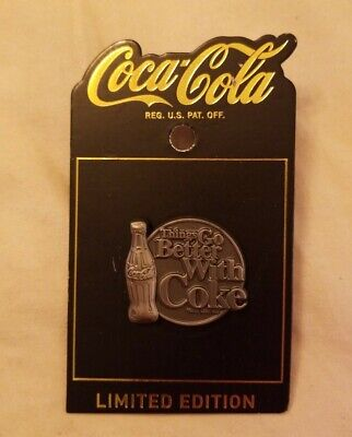 """Coca Cola Disney Springs Limited Edition """"Things Go Better With Coke"""" Pin"""