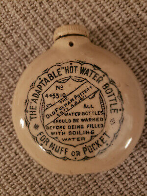 """Antique Boots """"Adaptable Hot Water Bottle"""" - """"For Muff or Pocket"""""""