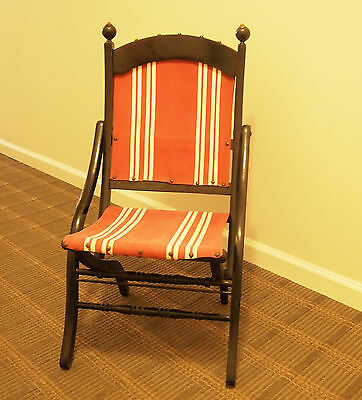 Antique Folding Chair in Style of Civil War Campaign by E. W. Vaill  c1873-1880