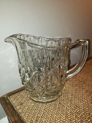 Antique English Cut Chrystal Pitcher (6 in. height)