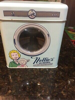 vintage Tin Bank   Nellie's all natural lamby dryerbslls