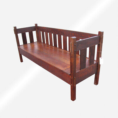 Stickley Bros ANTIQUE BENCH  w5567 FREE SHIPPING TO CA & TO FEW OTHER STATES.