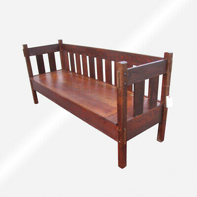 Stickley Bros ANTIQUE BENCH  w5567  FREE SHIPPING TO CA