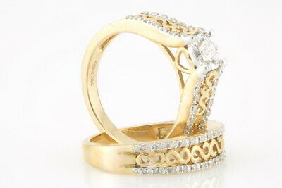 .45 Ct 10k or Jaune Couronne Bague S 7