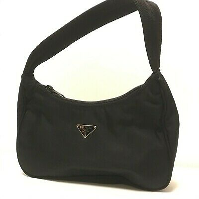 Small PRADA 2000 edition mini-bag black vela nylon handbag