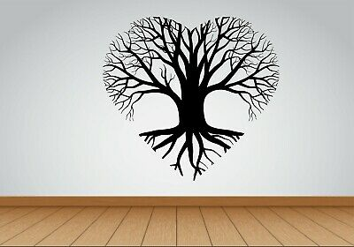 Tree Of Life sticker decal wall heart Shape Mural Home Decor room office Art