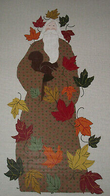 "32"" Curtis Boehringer Handpainted Needlepoint Canvas   Squirrel Santa  Hp Np"
