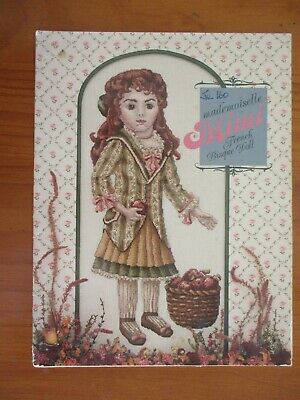 Mademoiselle Mimi French Bisque Doll CROSS STITCH Pattern Just CrossStitch 1985