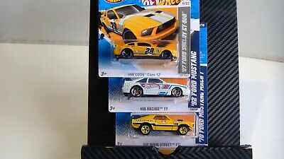Hot Wheels '70 Ford Mustang Mach 1, '92 Ford Mustang, '07 Ford Shelby GT-500