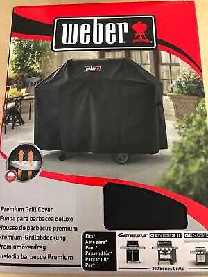NEW WEBER 7134 PREMIUM BBQ GRILL COVER FITS GENESIS II and 300 SERIES BBQ GRILLS
