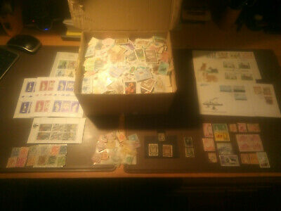 Good Size box full of off paper stamps huge mixture many countries