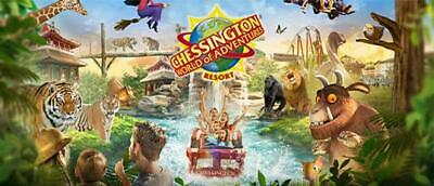 2 Chessington Tickets - 10 Sun Tokens and Booking Form Fast Response.