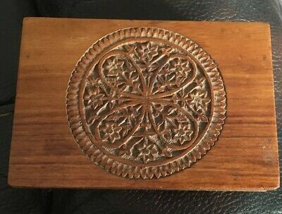 Vintage Intricate Carved Wooden Box Antique- Hand Made In India