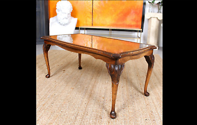 Bevan Funnell Vintage Mahogany & Glass Reprodux Coffee Table