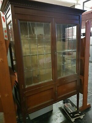 Very Old   Cabinet ,glass front and sides