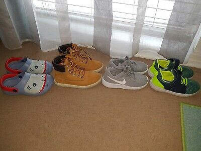 Boys Bundle Of Shoes Trainers Size 10 Infant Timberland Nike Next