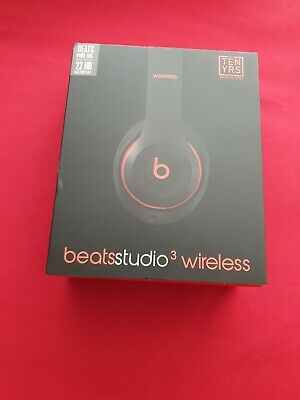 Beats Studio3 Wireless Headphones Black & Red - Brand New & Sealed