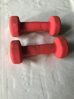 Two sets 1.5kg and 1kg Neoprene Dumbbells Hexagonal Cast Iron Weights Ladies