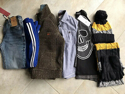 Boys Clothing Bundle 7-8 Jeans Joggers Fleece Top New/Used