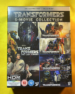 Transformers 4K 1 - 5 Movie Collection Bluray UK Edition New & Sealed