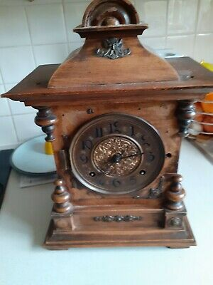 Vintage Clock and Eirking  Movement For Parts or Repair  / Project