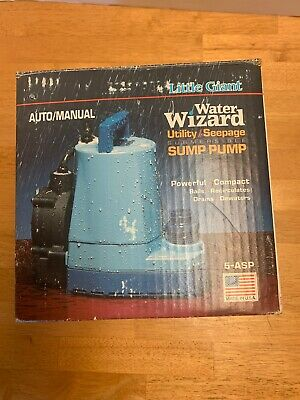 5-MSP 505000 Little Giant Submersible Utility Sump Pump 5MSP 1/6-HP