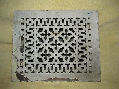 Antique Victorian Grate, Vent, Register, Cast Iron, Tuttle & Bailey, Salvage