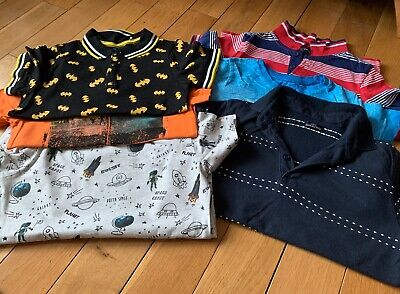 Boys 4-5 Years T-shirt & Polo Bundle X6 Next/george/mothercare Vgc
