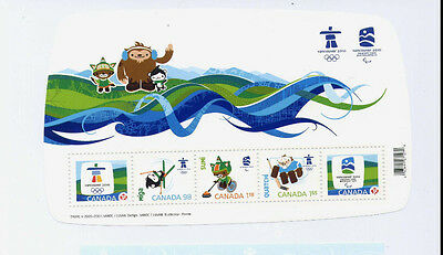 Canada Sc2305 Vancouver 2010 Olympic Emblems & Mascots Mnh Fv5.61