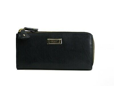 Tumi Women Seurat Double Zip Continental Leather Wallet Choose Black or Bone