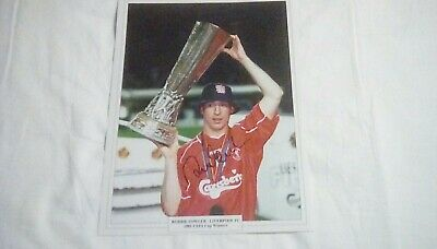 Robbie Fowler Liverpool Authentic Hand Signed 16 x 12 inch UEFA Cup winner photo