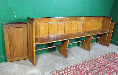 Long Vintage Church Pew, Farmhouse Kitchen, Bench, Pine, Refurb Project, Seating