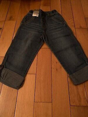 Next Boys 4-5 Years Cropped 3/4 Lightweight Jeans Nwt
