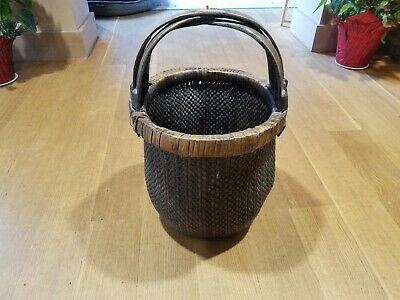 Antique Chinese Rice Gathering Basket Woven XX Large