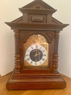 Handsome Antique Architectural Junghans Wurttemberg Bracket Clock