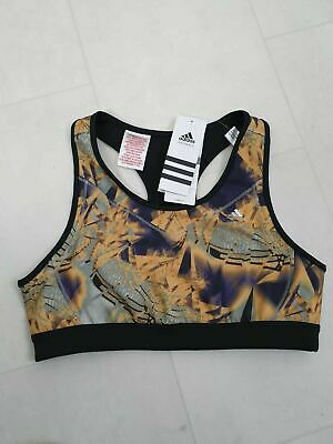 BNWT Girls Adidas Black Fitness Gym Sports Cropped Vest Top Size Age 14-15 Years