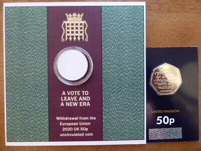 new brexit 50p coin brilliant uncirculated (coin in hand) only 3 available