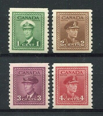 CANADA Scott 278 to 281 - NH - Set George VI War Issue perf 9 1/2 Coils (.067)