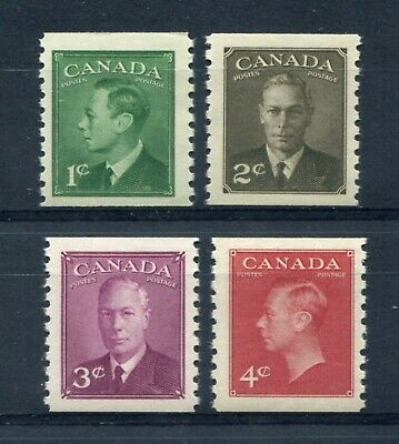 """CANADA Scott 297 to 300 - NH - King George VI """"POSTES-POSTAGE"""" Coils (.016)"""