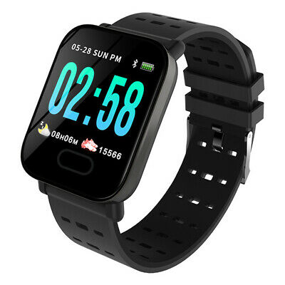 Sport Smart Watch Monitor Blood Pressure Bracelet Band For iOS Android Black