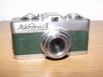 Meopta Mikroma II Vintage Sub-Miniature Film Camera + Case - Good Condition