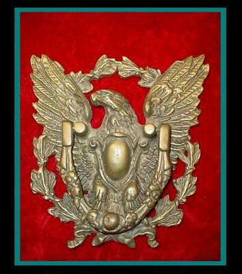VERY NICE Magnificent MASSIVE Antique /Vintage BRASS EAGLE & WREATH DOOR KNOCKER