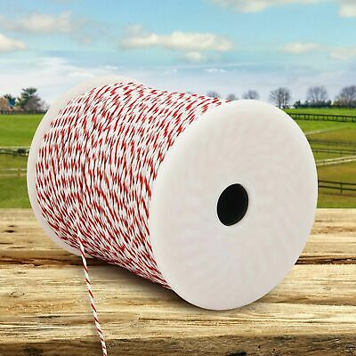 500M Stainless Steel Fencing Farming Electric Fence Tape PolyWire Insulator