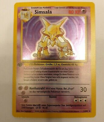 Simsala 1. Edition Deutsch Holo MINT Boosterfrisch ! Pokemon #1 PSA 10 ?