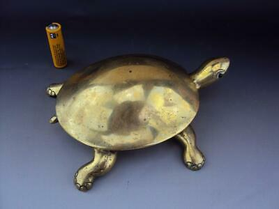 Fine Chinese Japanese Vintage Oriental Bronze Tortoise - LARGE & Heavy 1.36kg!