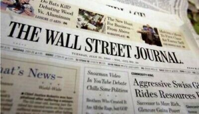 WSJ Wall Street Journal 39 weeks (228 Issues) Print - New subscriptions only
