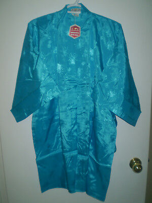 Golden Bee Chinese Kimono/Robe  NWT  Size S  Rayon Embroidered  Sea Blue